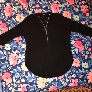 Express Black V Neck Sweater